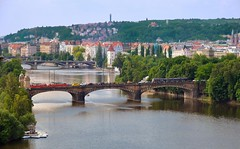 Prague : Most Legií  ( bridge ) photo by Pantchoa