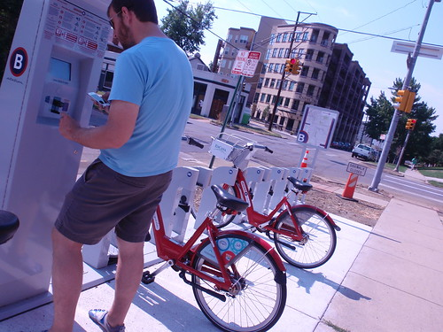 Checking Out Some Denver B-Cycles