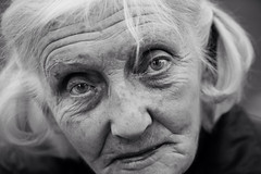 The sweet gaze of an elderly lady photo by Giulio Magnifico