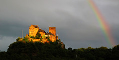 Schönburg Castle under a Rainbow photo by Batikart