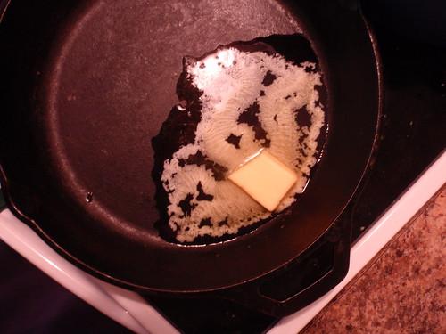 Butter in Skillet