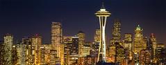 Golden Seattle Night photo by Dan Mihai
