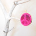 Ibiza - Peace in Pink - Felted pendant