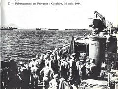 1944- Provence- Débarquement de Cavalaire - rédit photo : L'épopée de la Légion Etrangère 1940-1945 - A.P. Comor - Nelles Editions Latines