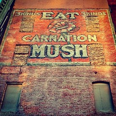 """Eat Carnation Mush -- 3 kinds, 3 kinds""(!) ghost sign in San Francisco photo by mollyblock"