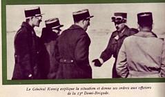 1942 - Koenig et officiers de la 13 DBLE