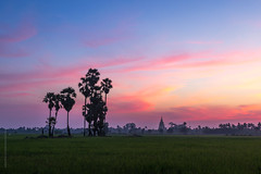 sunset above traditional country scene in Thailand photo by tuanland