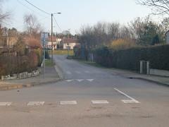 Intersection aux rues de la Vanne, Chemin de la Crottée, Rue la Louvière et Coteau de la Louvière