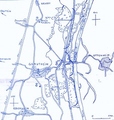 1945- Alsace- Gerstheim - Cartographie