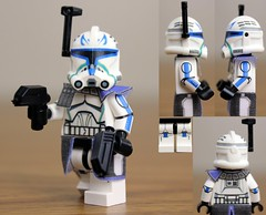 Custom LEGO Captain Rex (Clone Wars Phase 2) photo by JPO97Studios