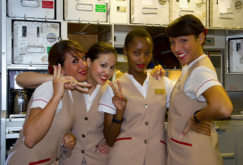 Emirates hostess