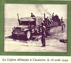 13 DBLE- 1944 aout- Débarquement cavalaire
