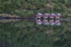 Cabins on Sognefjord photo by Christian Wilt