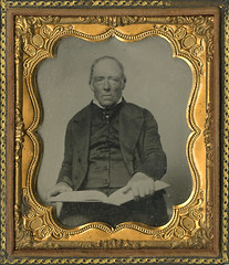 The Reader - Cased Tintype of Ederly Man with a Large Book photo by Photo_History - Here but not Happy