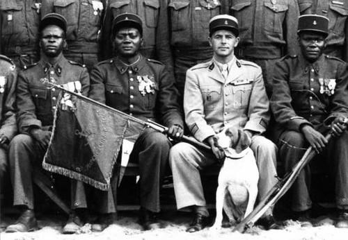 BM 2 - Capitaine Amiel et les sous-officiers du BM 2 - Le compagnon Mouniro à sa gauche - Crédit photo : Ordre de la Libération