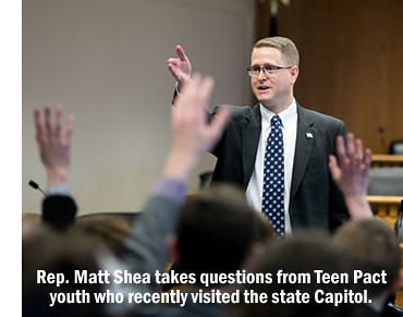 Rep. Matt Shea addresses Teen Pact youth.