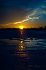 sunset & ice ^ Blue photo by IndyEnigma