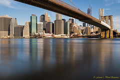 Brooklyn Bridge + Downtown + Reflection photo by Photosequence