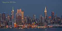 New York City Skyline Midtown with Empire State Building View at Twilight from Weehawken, NJ (2 of 2) photo by takegoro