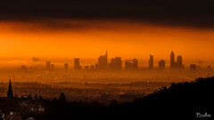 Misty Sunrise over Frankfurt photo by borisss1982