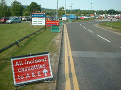 Major Incident signs - East Surrey Hospital #2