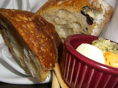 Olive Bread with three butters