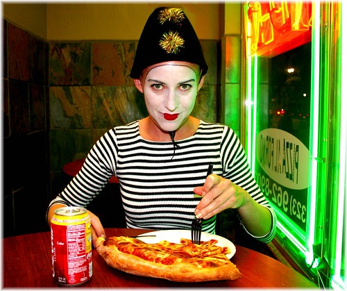 Amy Eating Pizza