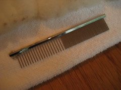 pet comb for combing the cormo