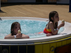 Ice cream in the hot tub