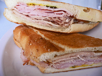 A perfect Cuban sandwich