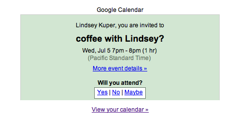Coffee with Lindsey?