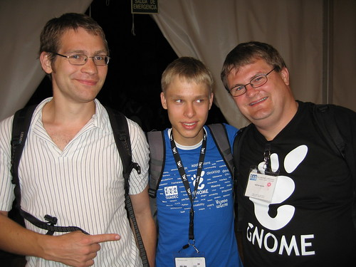 Photo of Benjamin Berg (middle) and Kristen Nielsen (right)