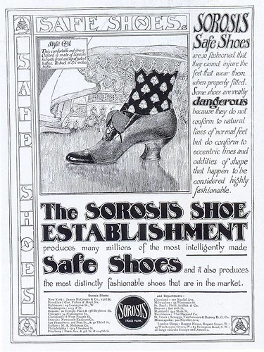 Sorosis Safe Shoes ad, 1905