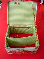Lunch box knitting bag
