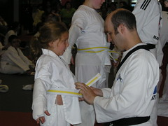 D gets her white belt