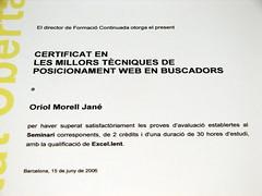 Certificat en posicionament