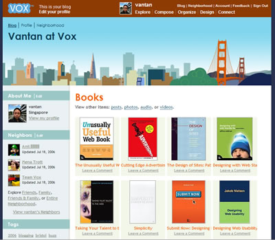 My Vox book collection