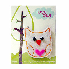 Love Owl Pin Brooch