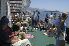 Crowded deck space
