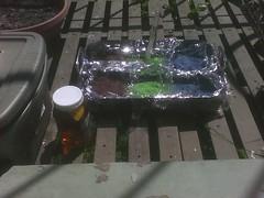 Solar dyeing