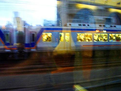在大阪南海電鐵Rapid上拍攝