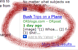 zoomed screenshot of Deanish article on Yahoo! News