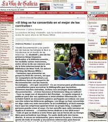 entrevista en La Voz de Galicia 8-08-06