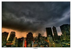 Live from NYC - with a lightning photo by Arnold Pouteau's