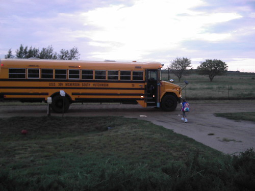 Alex Getting On Bus- 1st Grade