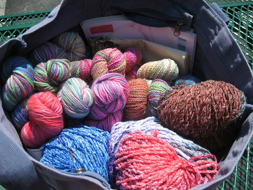 A few skeins of yarn...