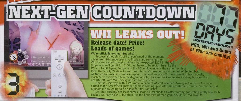 Wii Release Date