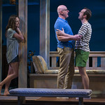 Emily Berman (Tessa), Jonathan Weir (Frank) and Stephen Schellhardt (Edmund) and in DAYS LIKE TODAY at Writers Theatre. Photo by Michael Brosilow.