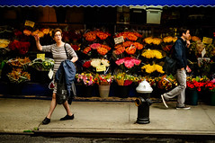 Cozy Corner Flowers New York City - Hailing A Cab by Alex Sablan photo by Alex Sablan