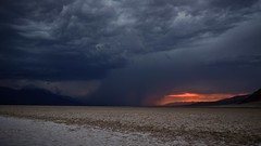 thunderstorm storm, badwater, death valley national park, california photo by twurdemann